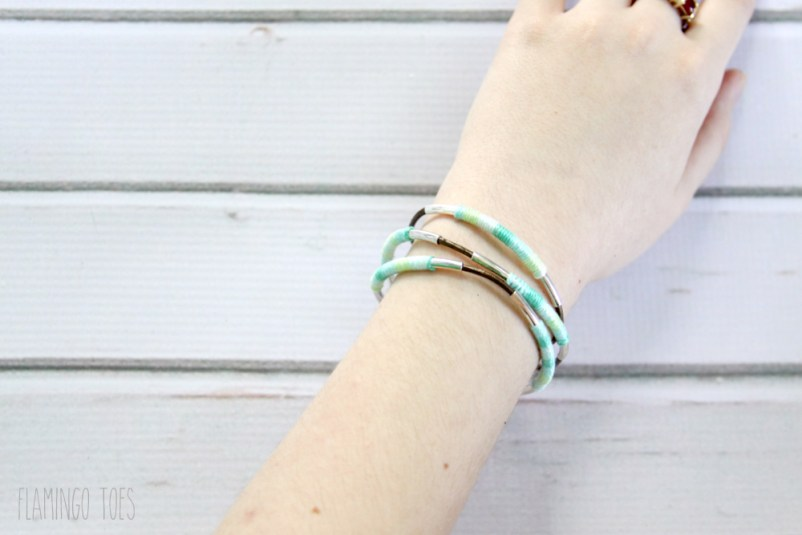 Thread and Leather Bracelet
