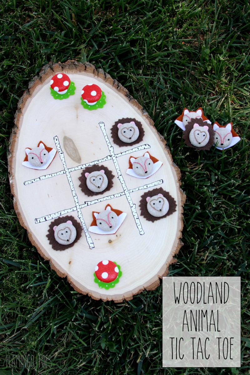 Woodland Animal Tic Tac Toe Game