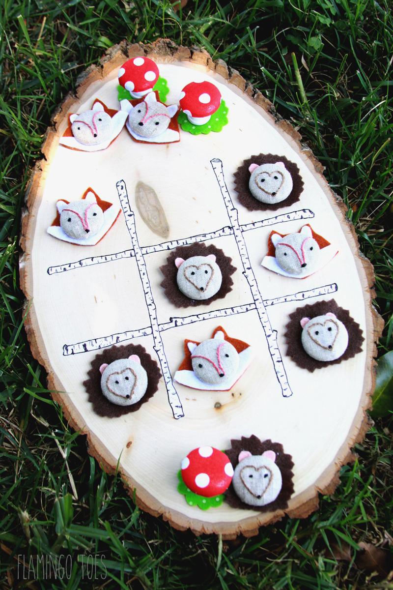 Woodland Tic Tac Toe Game