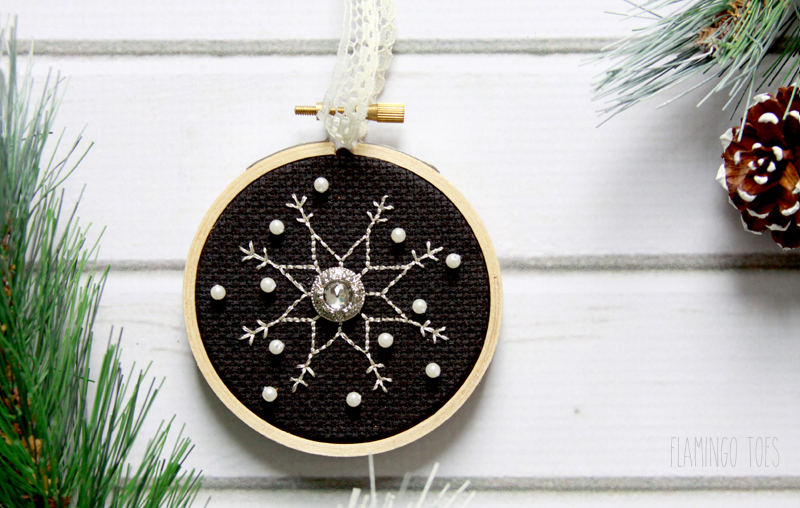 Cross Stitch Snowflake Ornament