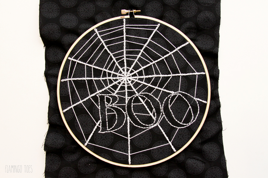 Embroidery Stitched Spider Web