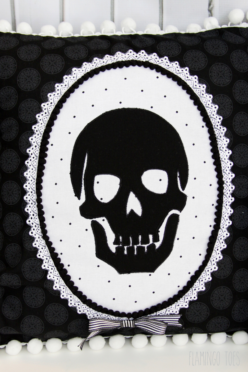 Skeleton Halloween Pillow
