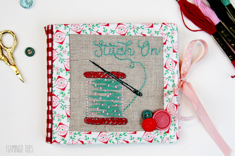 Stitch On - Embroidered Needle Book with free pattern