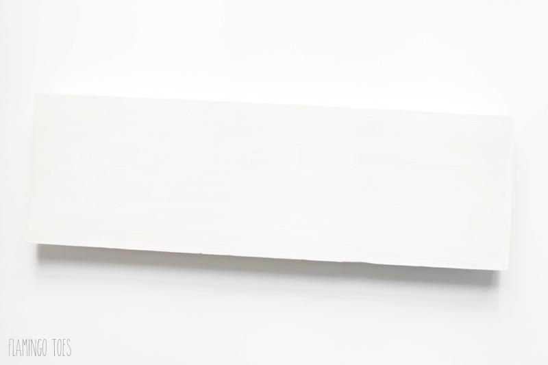 Base Coat of White Paint on Shelf