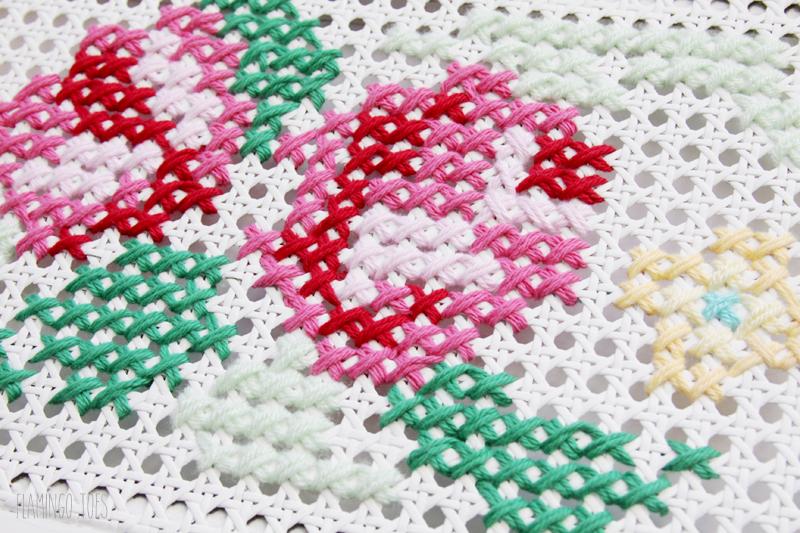 Cross Stitch on Shutter