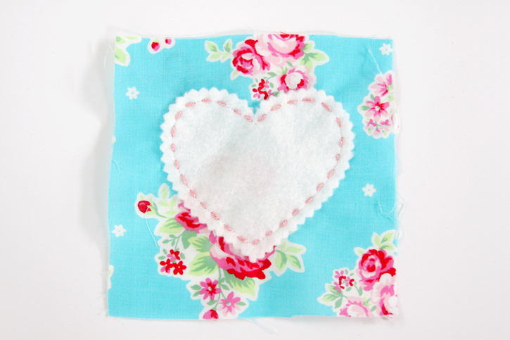 Embroidery Stitching on Heart