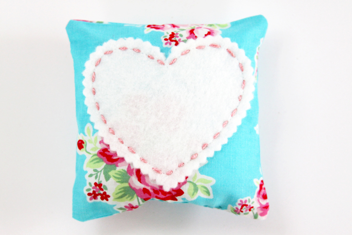 Pretty Fabric and Felt Sachet