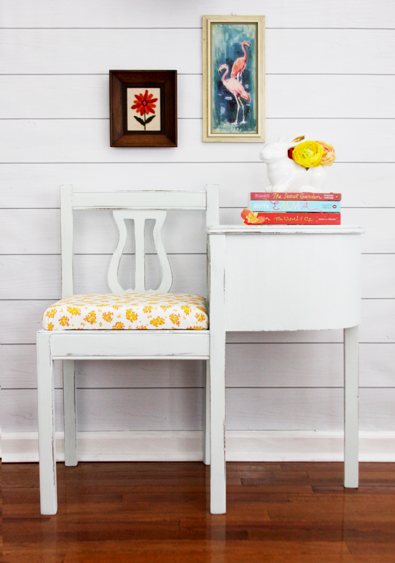 Pretty Milk Paint Bench Renovation