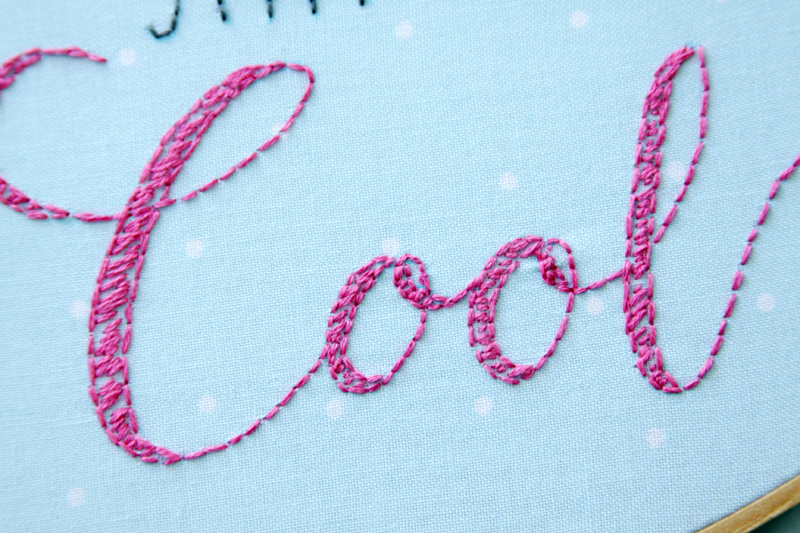 Sketchy Embroidery in Letters