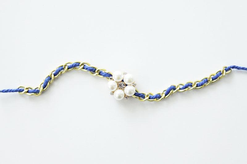 Cording threaded through Chain