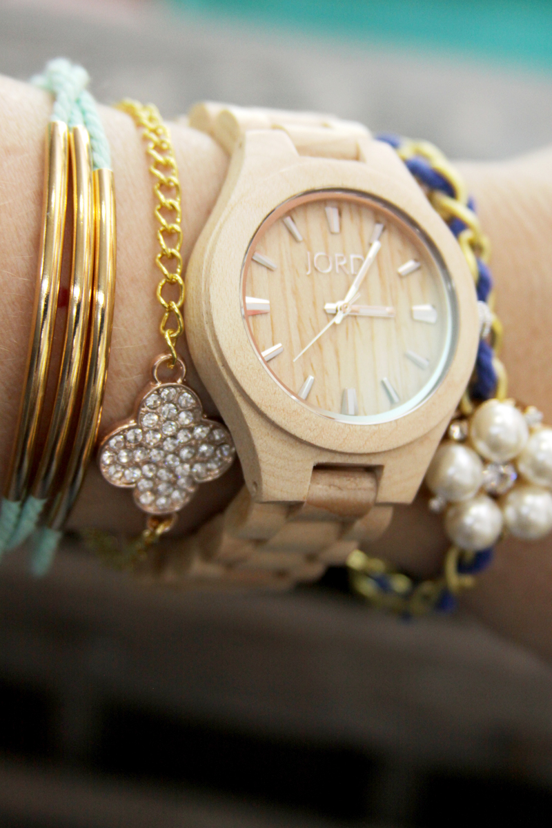 DIY Summer Layered Bracelets and Watch
