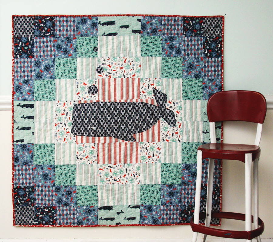 Nautical Whale Baby Quilt