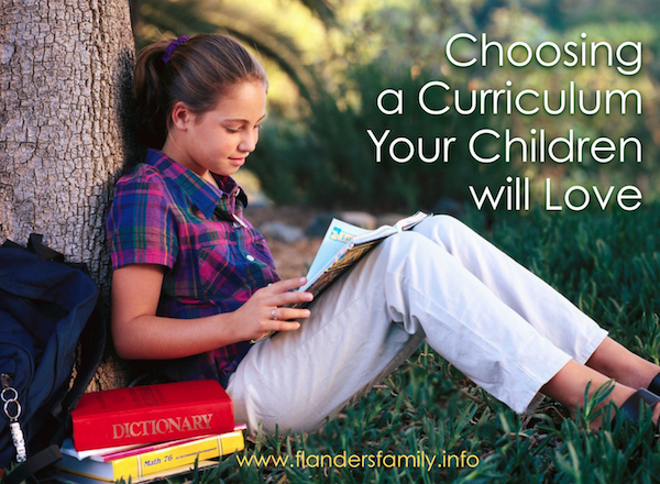 Choosing a Curriculum your Children will Love