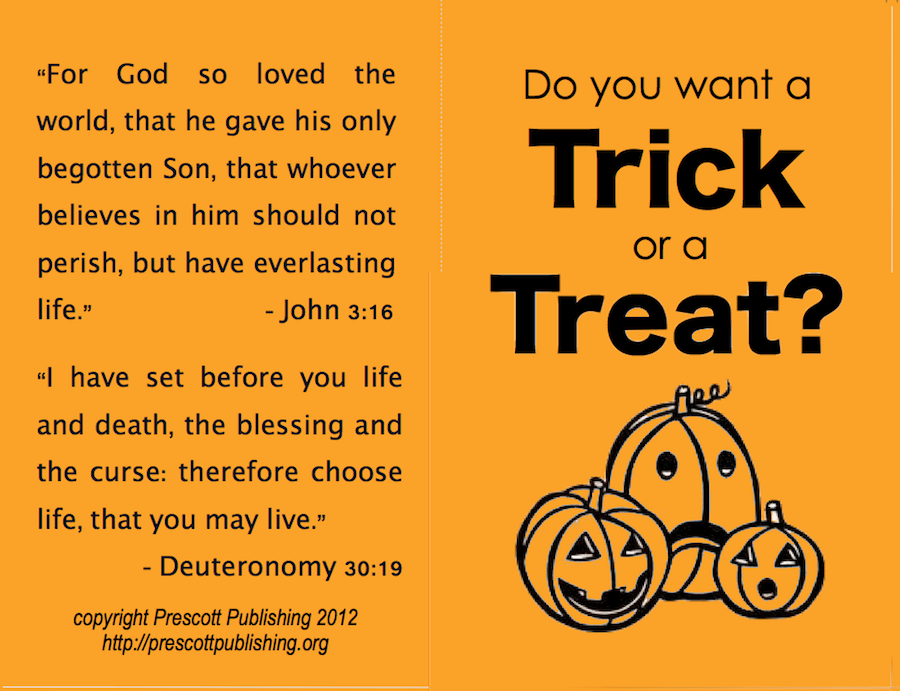 free printable trick-or-treat tract (outside) | www.flandersfamily.info