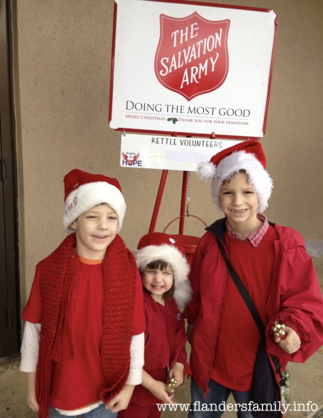 Ringing bells for the Salvation Army -- a family Christmas tradition