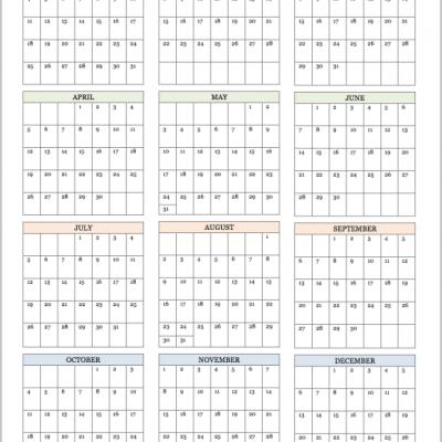 Free Printable 2015 Calendars