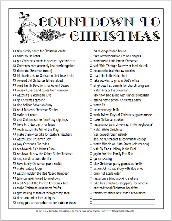 "Free printable ""Countdown to Christmas"" from www.flandersfamily.info"