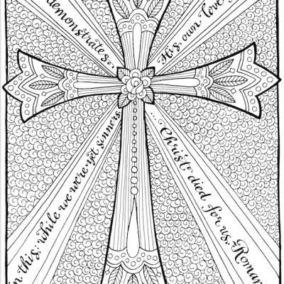 Free Coloring Page: The Cross of Christ