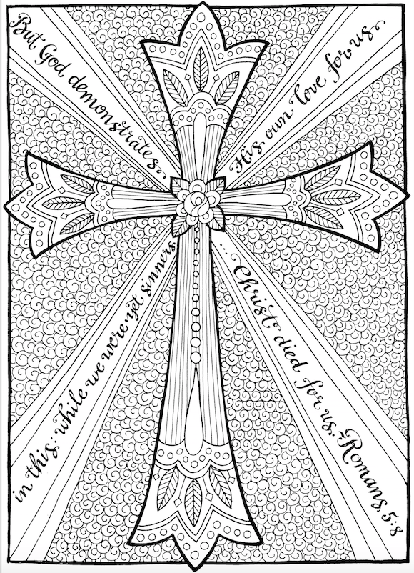 Free Coloring Page The Cross of
