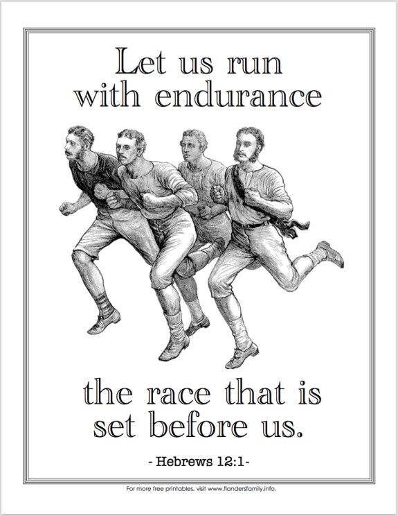 Run With Endurance Coloring Page