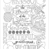 Fruit of the Spirit (Coloring Page)