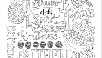 Bearing Good Fruit (Coloring Page) - Flanders Family Homelife
