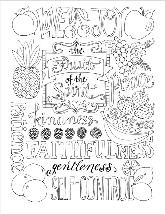 Fruit Spirit Coloring Page Pages For Kids By Mr Adron Free Of The