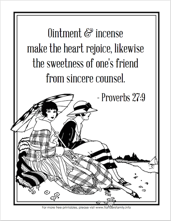 Finding Faithful Friends Coloring Page