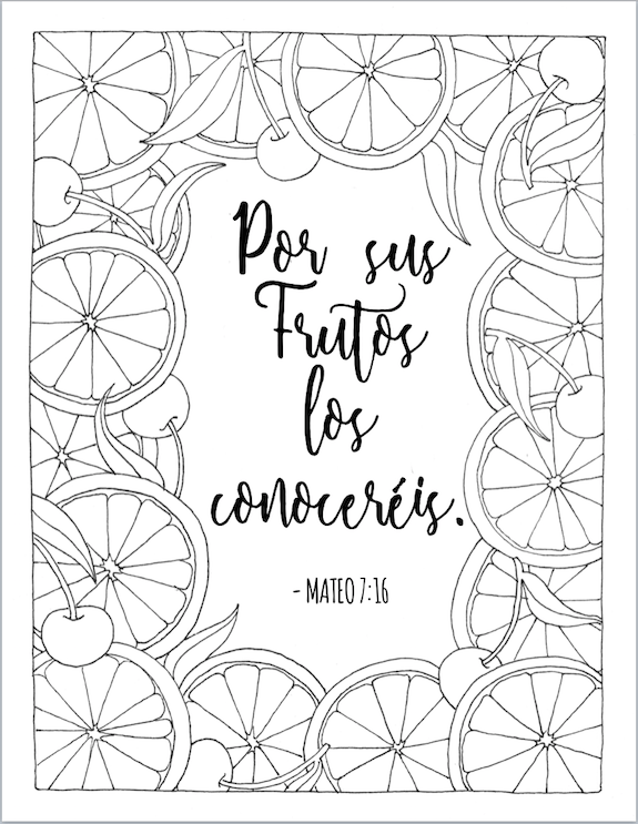 By Their Fruit Ye Shall Know Them (Coloring Page