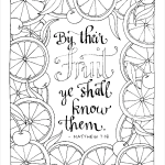 Free printable coloring page - Matthew-7:16