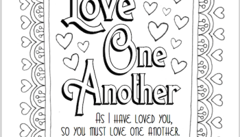 Love One Another Coloring Page Pages