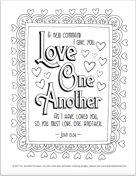 Valentine\'s Coloring Pages - Flanders Family Homelife