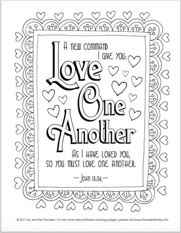 Exceptional Free Scripture Based Coloring Pages From Www.flandersfamily.info