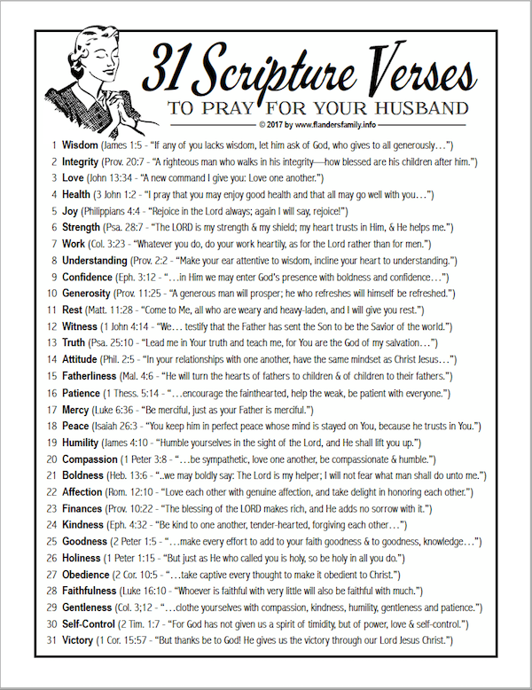 31 verses to pray
