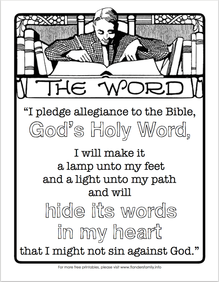 image regarding Pledge to the Bible Printable named Countrywide Anthem and U.S. Pledge Printables - Flanders Family members
