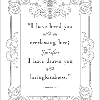 Everlasting Love (Coloring Page)