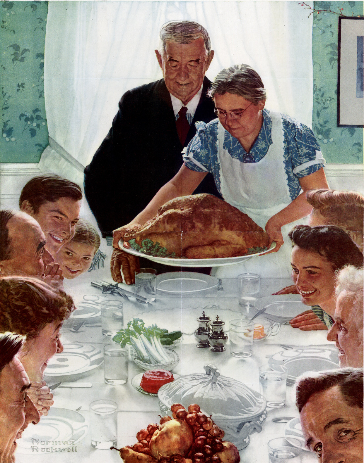 """Freedom from Want"" by Norman Rockwell, 1943"