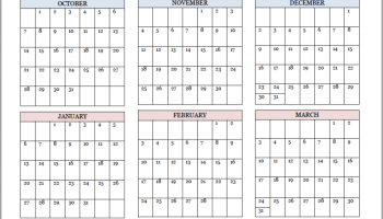 academic calendars for 2018 19 school year free printable