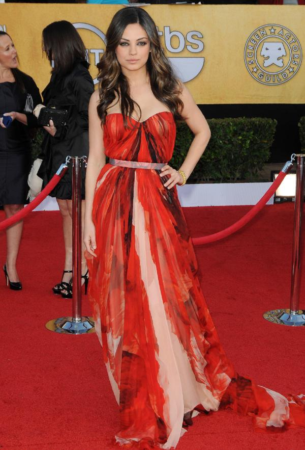 Red Carpet Style Mila Kunis - Flare