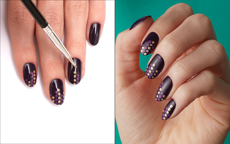 Easy How To Nail Art Polka Dots