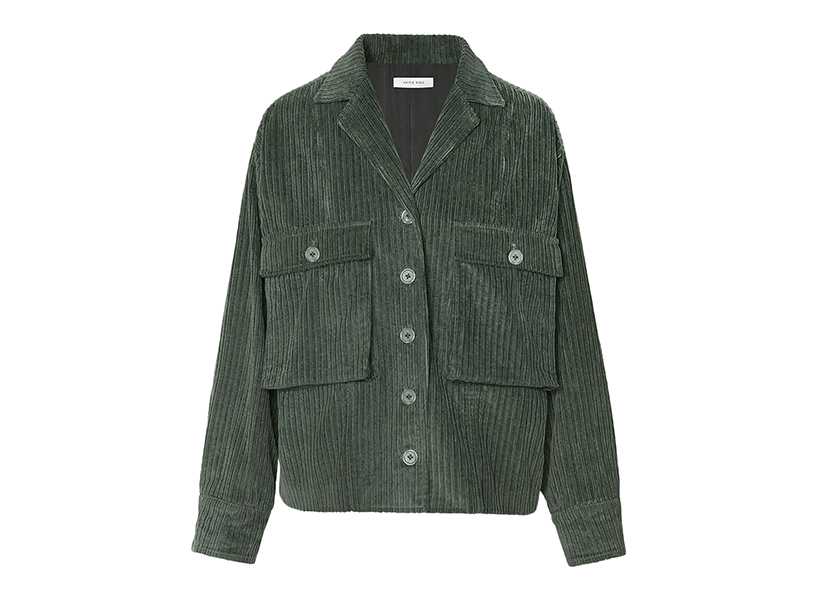Anine Bing green corduroy jacket