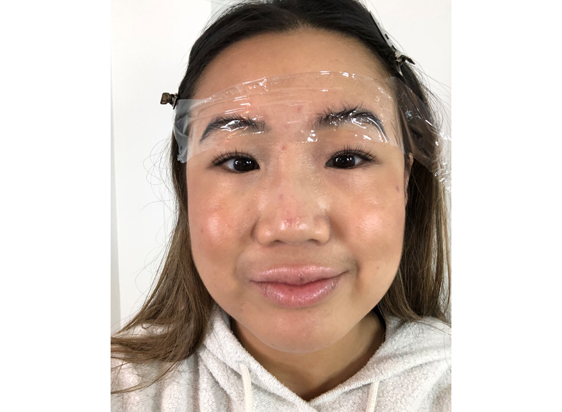 Eyebrow lamination review