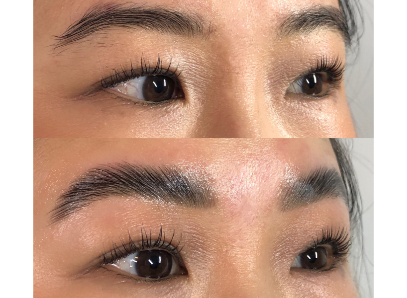 Eyebrow lamination review before and after