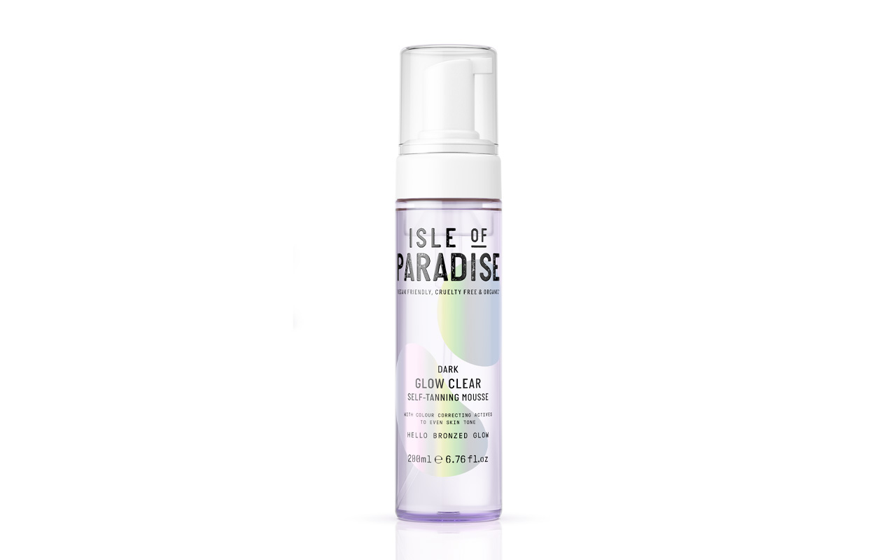 Isle of Paradise Glow Clear Self-Tanning Mousse in Dark