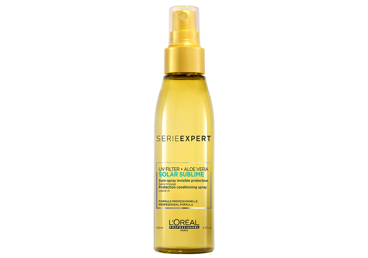 how to air dry hair without frizz: loreal professionel uv protectant