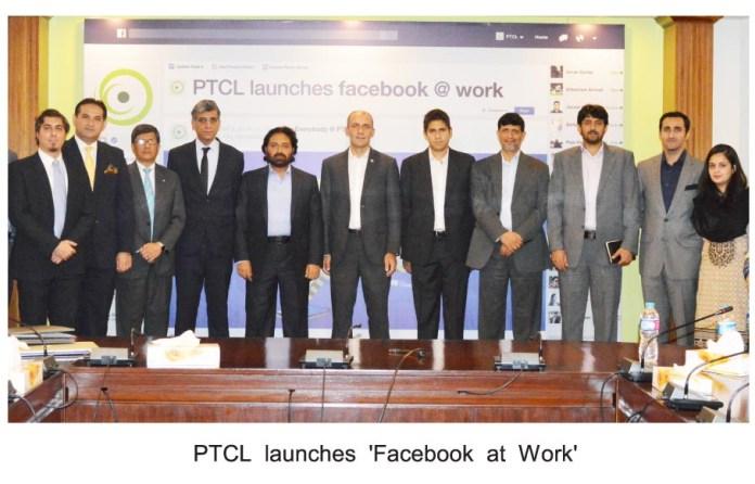 PTCL Launces Face Book at Work PHOTO English