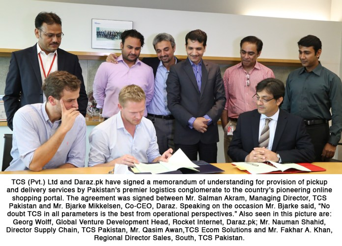 Photo Caption - TCS & Daraz.pk have signed a MoU for provision of pickup...