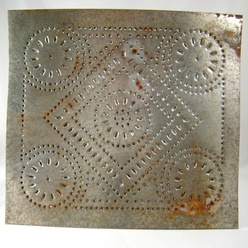 rustic country kitchen decor natural maple cabinets photos diamond motif primitive punched tin cabinet panel