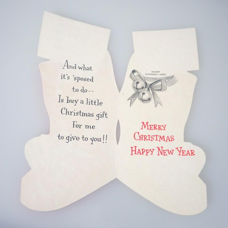 Christmas Card Money Holder Christmas Lights Card And Decore