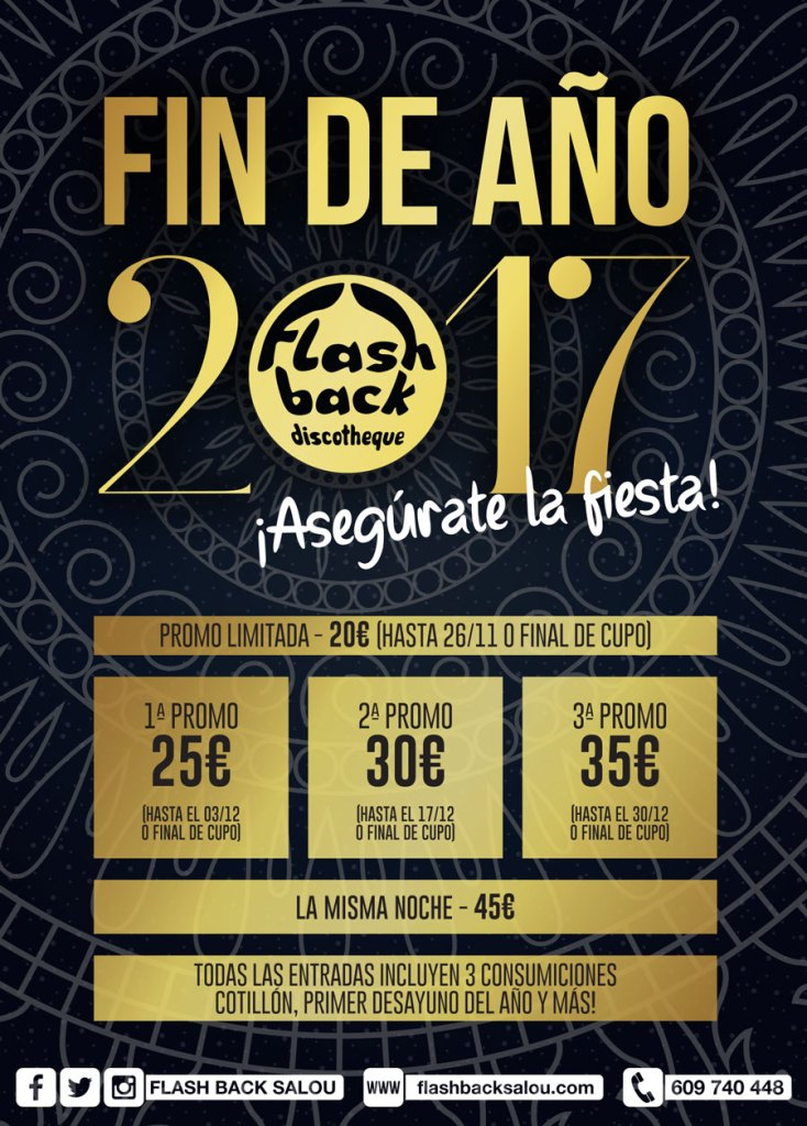 Fiesta Fin de Año 2017 - FlashBack Salou